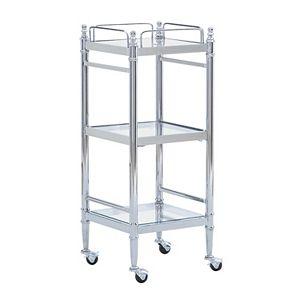 Linon Pinnacle Chrome Finish Bathroom Cart