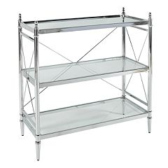 Linon Pinnacle Chrome Finish Console Table