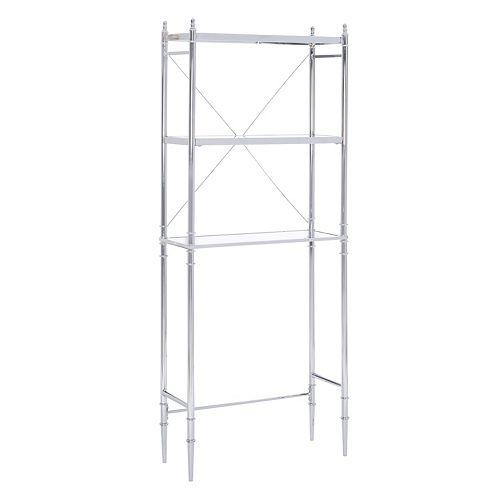 Linon Pinnacle Chrome Finish Space Saver Shelf
