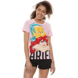 "Disney's The Little Mermaid Juniors' ""Ariel"" Graphic Tee & Boxer Shorts Set"