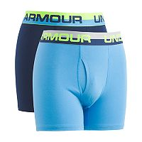 Boys 6-20 Under Armour Cotton 2-Pack Boxers