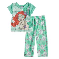 Disney's The Little Mermaid Ariel Toddler Girl Top & Bottoms Pajama Set