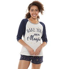 Juniors' Harry Potter 'Make Your Own Magic' Graphic Tee & Boxer Shorts Pajama Set