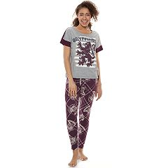 Juniors' Harry Potter Gryffindor Tee & Joggers Pajama Set