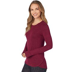 Women's Cuddl Duds Soft Knit Long Sleeve Top