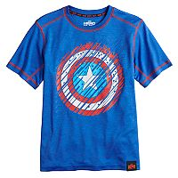 Boys 8-20 Marvel Hero Elite Series Captain America Shield Tee