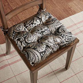 Madison Park Whitman Jacquard Square Chair Pad 2-pack