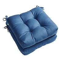 Madison Park Westport Linen Square Chair Pad 2-pack