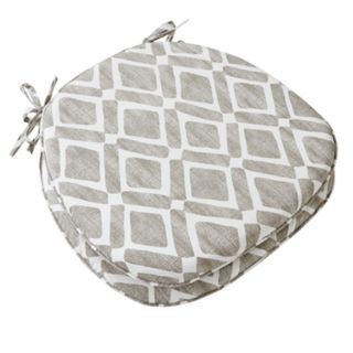 Madison Park Ella Printed Diamond Chair Pad 2-pack
