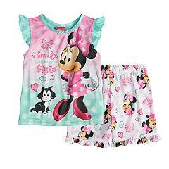 Disney's Minnie Mouse Toddler Girl Top & Shorts Pajama Set