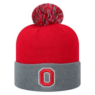 Adult Top of the World Ohio State Buckeyes Pom Beanie