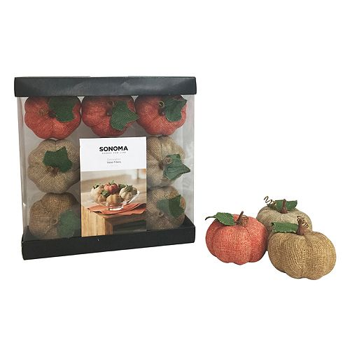 Sonoma Goods For Life Artificial Pumpkin Vase Filler 9 Piece Set