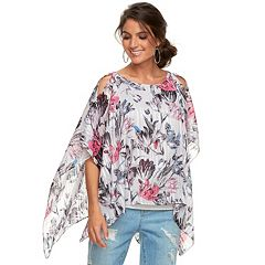 Women's Jennifer Lopez Cold-Shoulder Caftan Top