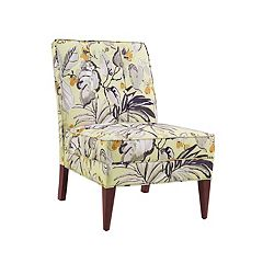 Linon Carmer Floral Accent Slipper Chair