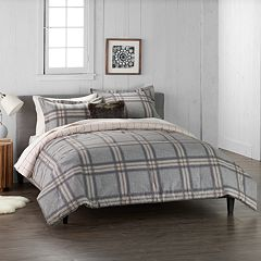 Cuddl Duds Home Gray Plaid 4-piece Comforter Set