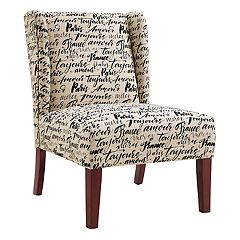 Linon Grace Paris Wing Back Accent Chair