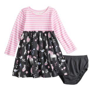 Baby Girl Jumping Beans® Glitter Pattern Dress