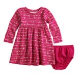 Baby Girl Jumping Beans® Glitter Pattern Dress