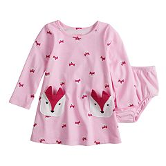 Baby Girl Jumping Beans® Printed Front Pocket Swing Dress