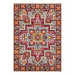 StyleHaven Bijou Tribal Influence Framed Floral Rug