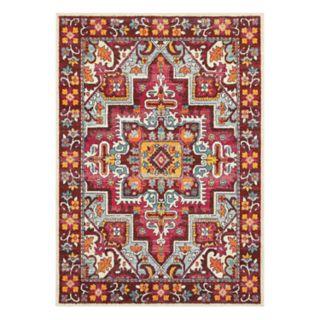 StyleHaven Bijou Tribal Influence Framed Floral Rug