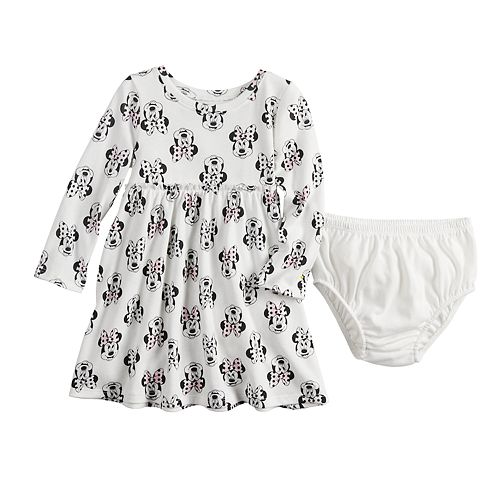 Disney's Minnie Mouse Baby Girl Ruffled Print Dress by Jumping Beans®