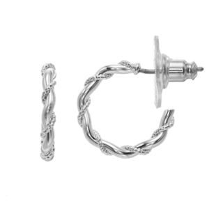 Napier Small Silver Hoop Earring