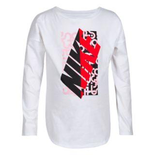 Girls 4-6x Nike Block Split Modern Graphic Tee