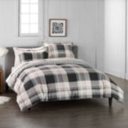 Cuddl Duds Home Gray Lodge Plaid Duvet Cover Set