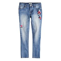 Girls 7-16 Mudd® Destructed Denim Skinny Jeans