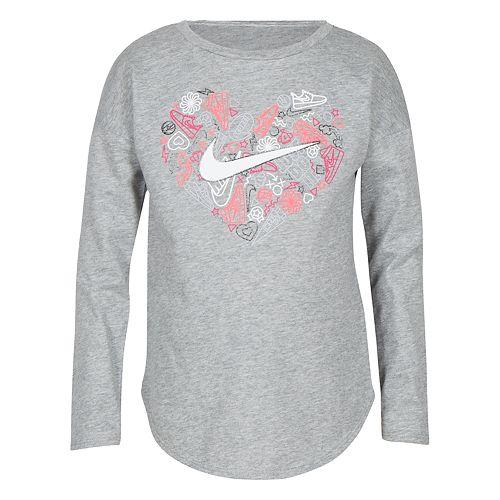 Girls 4-6x Nike Doodle Heart Graphic Tee