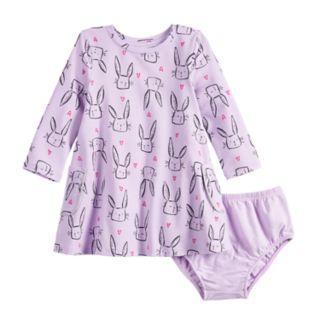 Baby Girl Jumping Beans® Long-Sleeve Pocket Dress