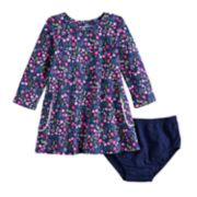Baby Girl Jumping Beans® Long-Sleeve Pocket Dress