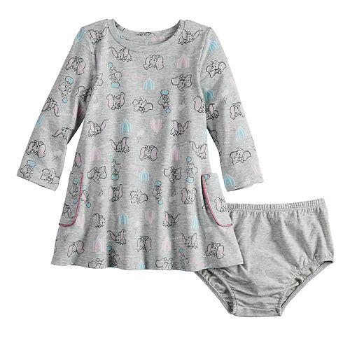 Disney's Dumbo Baby Girl Long-Sleeve Pocket Dress by Jumping Beans®