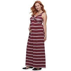Maternity a:glow Knot Maxi Dress