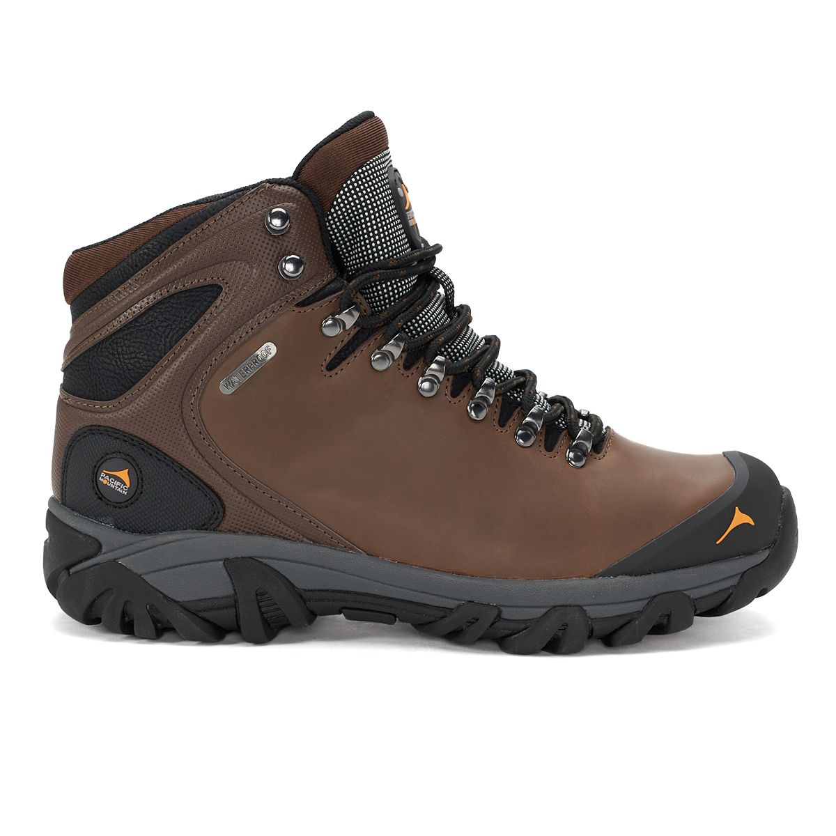 Pacific Mountain Elbert Men's Waterproof Hiking Boots Brown 1EIol