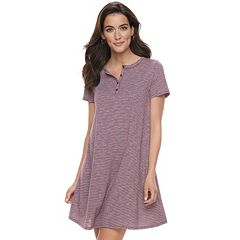 Women's SONOMA Goods for Life™ Henley T-Shirt Dress