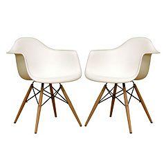 Baxton Studio Pascal Modern Chair 2-piece Set