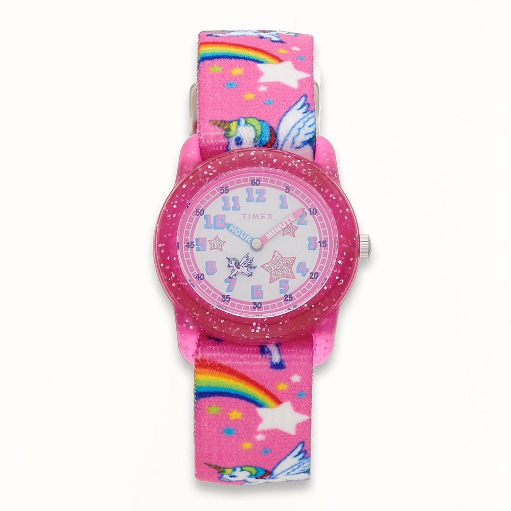 Timex Kids' Rainbows & Unicorns time Teacher Watch - TW7C25500XY