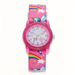 Timex Kids' Rainbows & Unicorns time Teacher Watch - TW7C25500XY