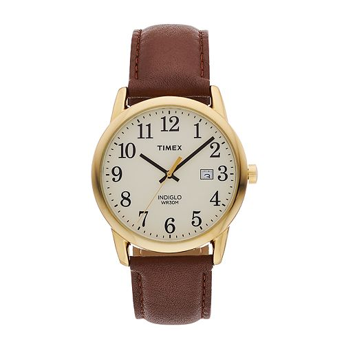 Timex Men's Easy Reader Leather Watch - TW2P75800JT