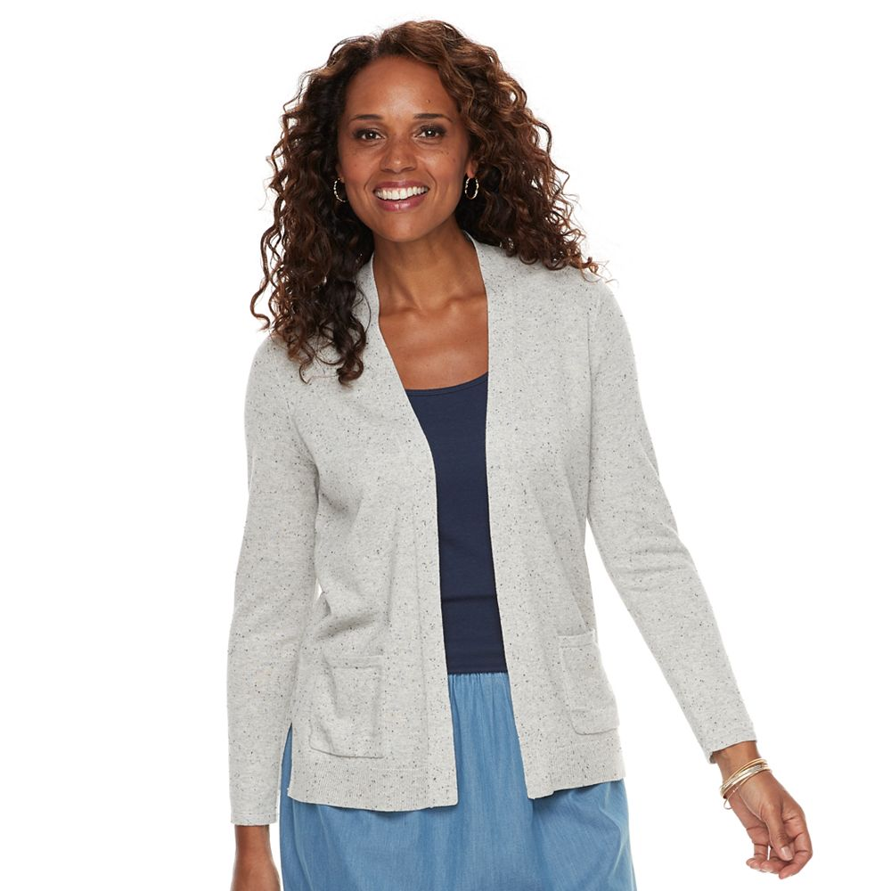 Women's Croft & Barrow® Essential Open-Front Cardigan