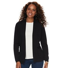 74c430aa81d Women s Croft   Barrow® Classic Open-Front Cardigan. Genuine Navy Mineral  Black ...