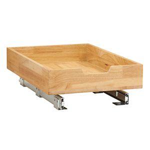 Household Essentials Glidez Wood 1-Tier 14.5-inch Wide Sliding Under Cabinet Organizer