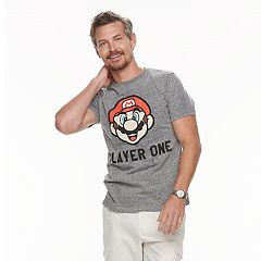 Men's Dad & Me Player One Mario Graphic Tee