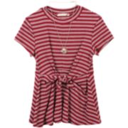 Girls 7-16 Speechless Striped Twist Front Dress