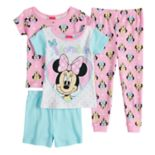 "Disney's Minnie Mouse Toddler Girl ""Adorable"" Tops, Shorts & Pants Pajama Set"
