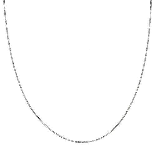 PRIMROSE Sterling Silver Tube Chain Necklace