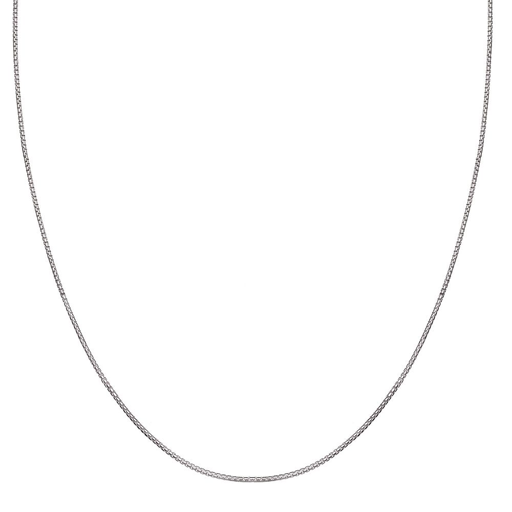 PRIMROSE Sterling Silver Round Box Chain Necklace