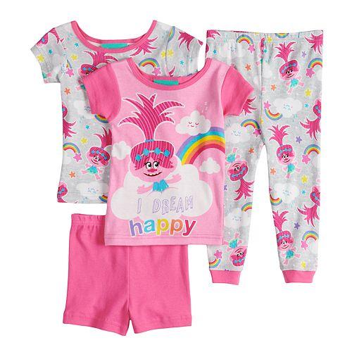 Trolls Girls I Dream Happy Shortie Pajama